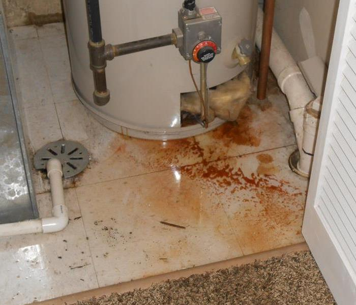 Broken Water Heater causes Water Damage